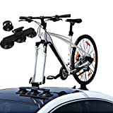 Partol Car Roof Sucker Bike Rack High Strength Vacuum Suction Cup Roof Rack Quick Release Aluminium Alloy Roof-Top Bicycle Carrier Fit for Most Cars (1-Bike, Black)