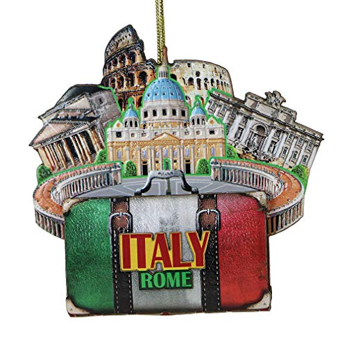 City-Souvenirs Italian Rome Christmas Ornament 4 Inch Double Sided 3D Italy Christmas Ornament