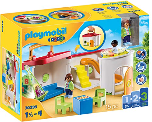 PLAYMOBIL 1.2.3. 70399 Mein Mitnehm-Kindergarten, Ab 18 Monaten