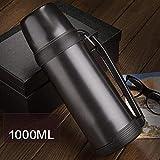 Compact Acier Mug ,Bouillotte portable, fiole à vide en acier inoxydable-M,ouvre...