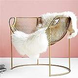 Gefütterter hohler Design-Sessel, Gold Massives Schmiedeeisen Handgemachtes Schweißen Für Wohnzimmer, Couchtisch
