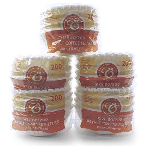 EDESIA ESPRESS - 1000 filtres à café en papier - forme corbeille - 8 à 12 tasses - 80/200 mm