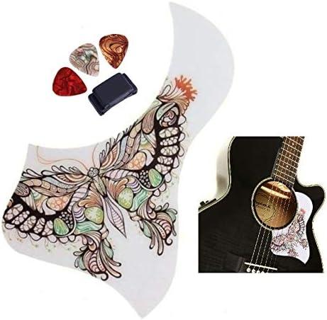 Butterfly Acoustic Guitar favorite Pick Guard Bundle Long-awaited Bird Shape Duck + Gu