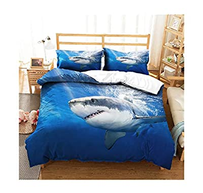 Bedding Set 3D Printed King Duvet Cover Bed Sheet Sea Shark Home Textiles for Adults Bedclothes with Pillowcase Full Queen Quilt Cover