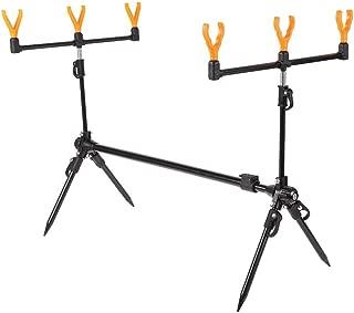 SODIAL Adjustable Retractable Carp Fishing Rod Pod Stand Holder Fishing Pole Pod Stand Fishing Tackle Fishing Accessory