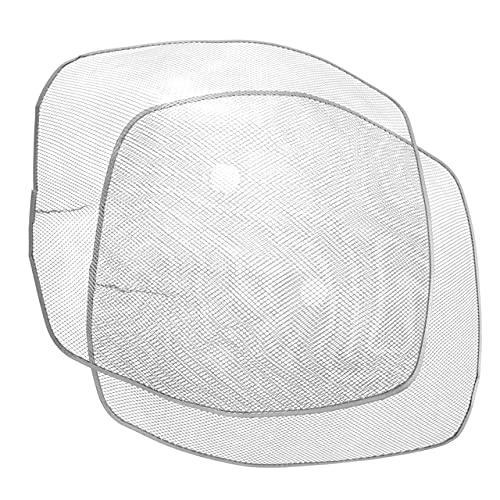 2 Stks Thuis Stevige Afzuigkap Olie Netten Vierkante Afzuigkap Ijzer Filtering Schermen-25X25X8 CM, Zilver
