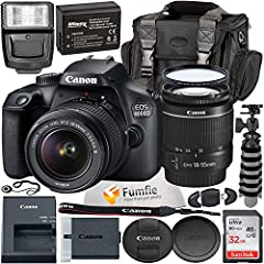 "18MP APS-C Sensor; DIGIC 4+; Scene Intelligent Auto 9-Point AF Optical Viewfinder; Creative Filters EOS Movie Full 1080p HD; 2.7"" LCD Screen Optical Image Stabilizer; AUTO(100-6400), 100-6400 ISO Wi-Fi Connectivity; EF-S 18-55mm f/3.5-5.6 III Lens"