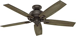 Hunter Indoor / Outdoor Ceiling Fan, with pull chain control - Donegan 52 inch, Onyx Bengal, 54167