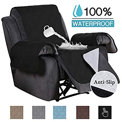 100% Waterproof Recliner Covers for Large Recliner Furniture Sofa Covers for Oversized Recliner Quilted Non-Slip Sofa Protector for Living Room
