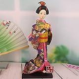personaje geisha, muñeca kimono, artesanía títere, hoteles de cocina japonesa Ayanxtion ornamentos, colección souveni, C, G
