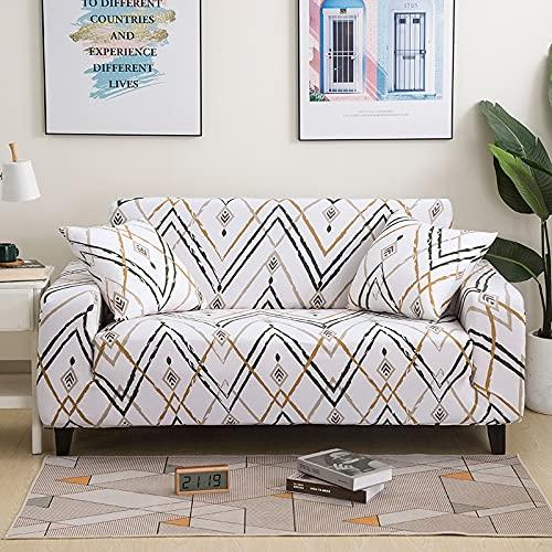 WXQY Funda elástica para Muebles,Funda para sofá elástica para Sala de Estar,Funda para sofá para sillón,Funda para sofá Todo Incluido para decoración del hogar A2 4 plazas