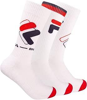 Fila Men's 3-Pack Heritage New Logo Crew Socks