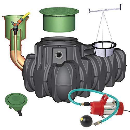 GRAF Regenwasser-Flachtank Platin Regenwassertank Zisterne Wassertank Garten-Komfort, 3.000 L begehbar
