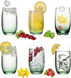 PLATINUX Elegante Ombré - Vasos de cristal (280 ml, máx. 370 ml, 6 unidades)