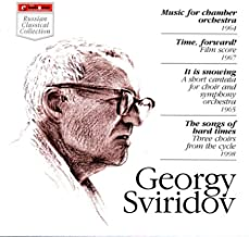 It is snowing (A short cantata for choir & symphony orchestra, 1965): Soul