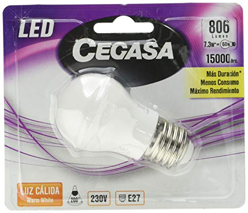 Cegasa Lamp Cegasa Led Esf E-27 7,5W Bl1 Cali 100 ml
