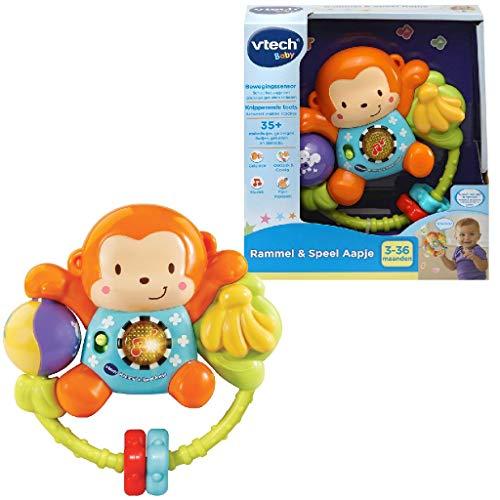 VTech Baby - Rammel & Speel Aapje - Multikleuren - Plastic - Voor Jongens en Meisjes - Van 3 tot 24 maanden - Nederlands Gesproken
