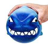 Squishy Toy, ZOMUSAR 12CM Squishy Big Shark Cream Scented Slow Rising Squeeze Collection Charm Toys (Blue)