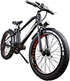 NAKTTO 26' 500W Electric Bicycle Fat Tire Mountain EBike 6...