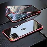 Coopts - Carcasa magnética, protector de pantalla de cristal templado 9H antiarañazos, para iPhone 11 Pro (2019), de 5,8 pulgadas