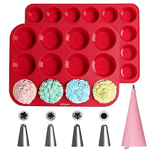Silicone Muffin Pan Cupcake Set