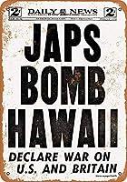 Japs Bomb Hawaii メタルポスター壁画ショップ看板ショップ看板表示板金属板ブリキ看板情報防水装飾レストラン日本食料品店カフェ旅行用品誕生日新年クリスマスパーティーギフト