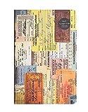Bloc de notas A5, diario vintage, cuaderno retro con tapa dura, 96 hojas, 192 páginas, papel de estraza de 100 g/m2, diseño llamativo en el interior de la página.