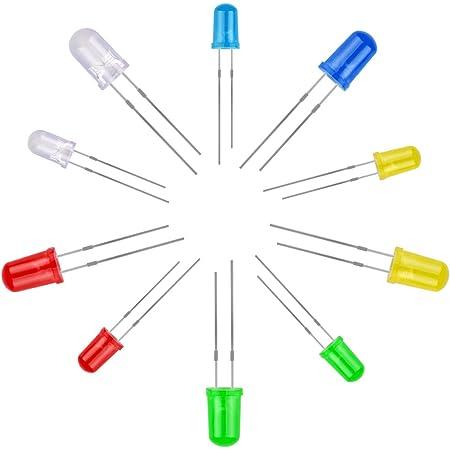10x 3mm LED rond filaire 30cm diode résistance 3mm