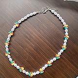 ShZyywrl Collar De Joyas Regalos para Aniversario Cumpleaños De La Madre Collar Nuevo Collar De Cadena De Clavícula con Cuentas De FLO