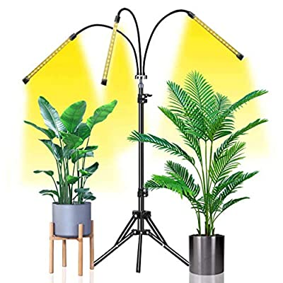 Grow Light Abonnylv 60W Led Tri Head Floor Plant Lights for Indoor Plants with Stand Full Spectrum Lamps Sunlike for Gardening Houseplants,Tripod Standing Adjustable 15-48 in & 3 Modes