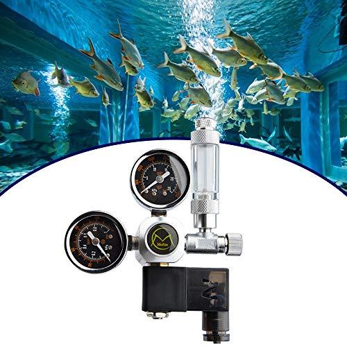 InLoveArts Druckminderer CO2 Variante Mehrweg mit festem Magnetventil und Rückschlagventil Nadelventil Aquarium Night Shutdown W21.8 Schnittstelle