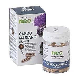 NEO | Extracto de Semillas de Cardo Mariano 200 mg | 45 Cápsulas Naturales | Favorece a la Eliminación de Toxinas | Libre de Alérgenos y GMO | Tomar de 1 a 2 Cápsulas a Día | Liberación Rápida