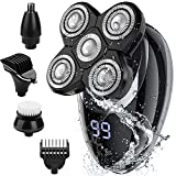 Electric shavers for Men, Cordless Rechargeable Electric Razor Bald Head Shaver, 5 in