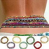Sethexy En couches Perles Chaîne de taille Mode Ventre Chaîne de corps plage 7Pack Bijoux de taille Accessoires de carrosserie pour femme