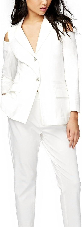 Rachel Rachel Roy Women's TwoButton ColdShoulder Blazer White 10
