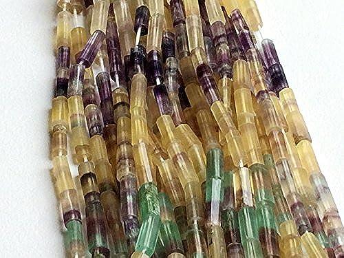 5 rand Natur Fluorit Perlen Feinste Qualität Multi Fluorit Tube Perlen Regenbogen Fluorit Perlen 11  x 5  35,6cm