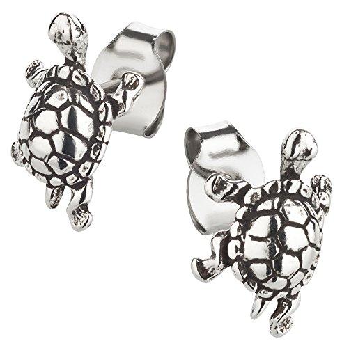 Ohrstecker Schildkröte Ohrring aus Sterling Silber für Kinder Damen und Herren