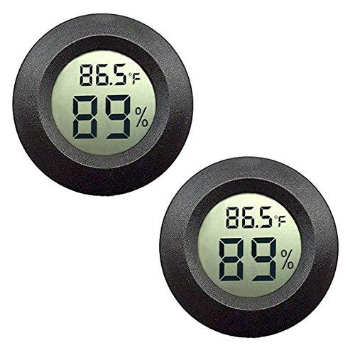 Meggsi 2 Pack Mini Digital Hygrometer Gauge Indoor Thermometer, LCD...