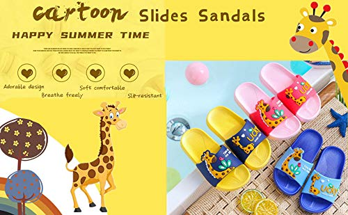 Kids Unicorn Slide Sandals Lightweight Summer Beach Water Shoes Boys Girls Shower Pool Slippers(Toddler/Little Kids)