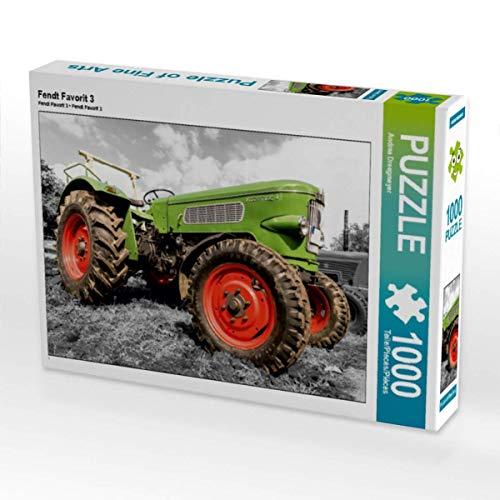 CALVENDO Puzzle Fendt Favorit 3 1000 Teile Lege-Größe 64 x 48 cm Foto-Puzzle Bild von Andrea Dreegmeyer