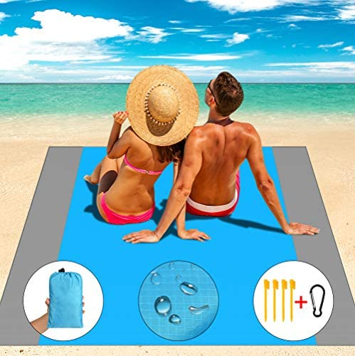 Aollop Beach Blanket Sand Free Beach Blanket Large 82 7 x 78 7 Waterproof Portable Outdoor Lightweight product image