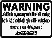 185新しいブリキサインネブラスカ馬責任法はあなたの乗馬施設の常連客にあなたの会社の規則を知らせます。アルミニウム金属道路標識壁装飾8x12インチ