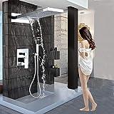 FMXKSW Système de Douche Mitigeur de Douche en Laiton avec mitigeur Mural et Colonne de Douche avec douchette, mitigeur 3 Voies