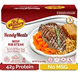 Kosher MRE Meat Meals Ready to Eat, Beef Rib Steak & Kugel (1 Pack) - Prepared Entree Fully Cooked,...