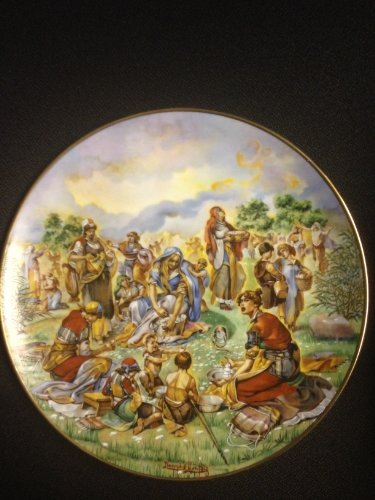 """""""Manna From Heaven"""" By Artist Yiannis Koutsis Collector Plate VI of the Bible Series """"The Promised Land"""""""