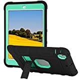 TKOOFN iPad Mini Case, Heavy Duty Shockproof Rugged Hybrid Protective Case Cover with Build in Kickstand for iPad Mini,iPad Mini 2,iPad Mini 3