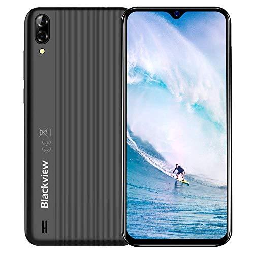 Blackview A60 Android Handy, Dual SIM Smartphone ohne Vertrag Günstig, 15,49 cm (6,1 Zoll) HD+ Display, 13MP+5MP Kamera, 4080mAh Akku, 16GB ROM Einsteiger Handy, 128 GB erweiterbar Handy