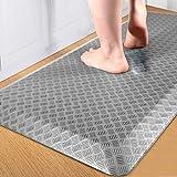 "FEATOL Anti Fatigue Floor Mat, Kitchen Mats, Standing Mat for Standing Desk Kitchen & Garage, Ergonomic Comfort Office Desk Rugs Floor Pad with Durable/Stain Resistant/Non-Slip Bottom (20""X32"")-Grey"