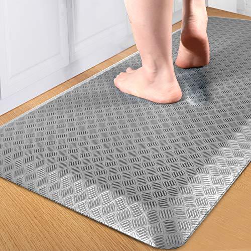 "FEATOL Anti Fatigue Floor Mat Kitchen Mats Standing Mat for Standing Desk Kitchen amp Garage Ergonomic Comfort Office Desk Rugs Floor Pad with Durable/Stain Resistant/NonSlip Bottom 20""X39""Grey"