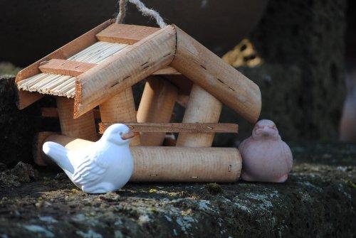 Vogelhaus zum Hängen aus Holz,M.663 - 4
